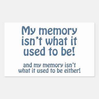Mi memoria pegatina rectangular