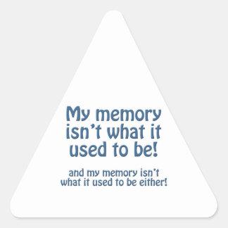 Mi memoria pegatina triangular