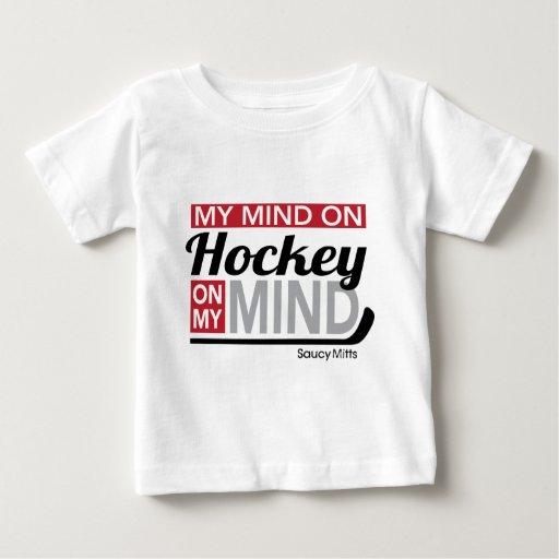 Mi mente en bebé del hockey playera