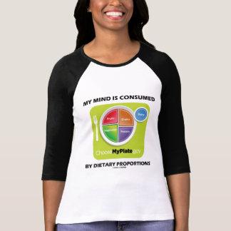 Mi mente es consumida por proporciones dietéticas camiseta