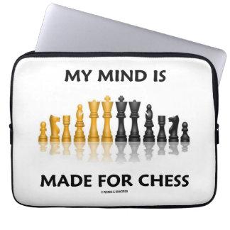 Mi mente se hace para el ajedrez (el juego de fundas computadoras
