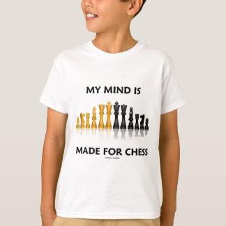 Mi mente se hace para el ajedrez (el juego de playeras