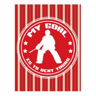 Mi meta es negar el suyo, hockey hierba postal