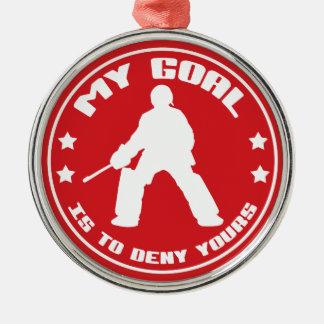 Mi meta, ornamento (rojo) del hockey hierba ornamentos de reyes