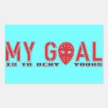 Mi meta, pegatinas del portero del hockey rectangular pegatina
