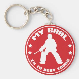 Mi meta, portero del hockey hierba llavero redondo tipo pin