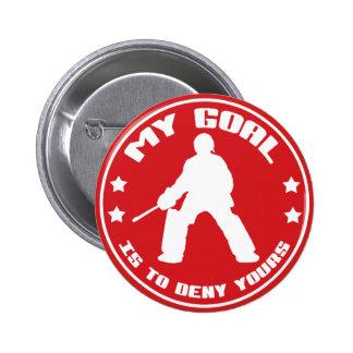 Mi meta portero del hockey hierba pins