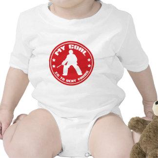 Mi meta, portero del hockey hierba traje de bebé