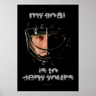 Mi meta (portero del hockey) póster
