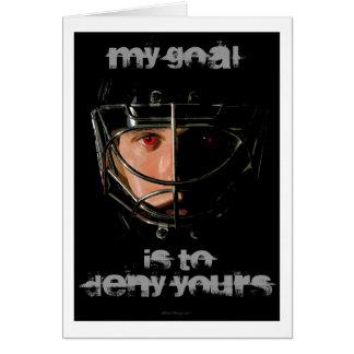Mi meta (portero del hockey) tarjeta de felicitación