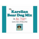 ¡Mi mezcla carelia del perro del oso es toda la es Tarjeta Postal