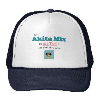 ¡Mi mezcla de Akita es toda la eso! Gorros