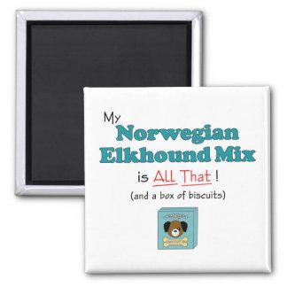 ¡Mi mezcla de Elkhound del noruego es toda la eso! Iman De Frigorífico