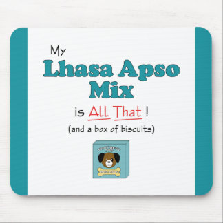 ¡Mi mezcla de Lasa Apso es toda la eso! Tapetes De Ratones