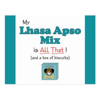 ¡Mi mezcla de Lasa Apso es toda la eso! Tarjeta Postal