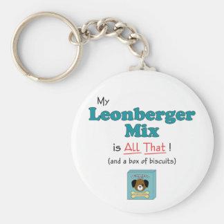 ¡Mi mezcla de Leonberger es toda la eso! Llavero