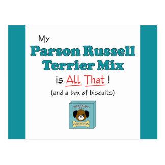¡Mi mezcla de Russell Terrier del párroco es toda Postales