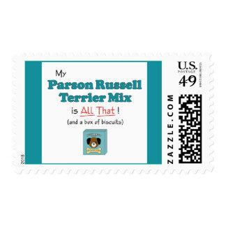 ¡Mi mezcla de Russell Terrier del párroco es toda Sello