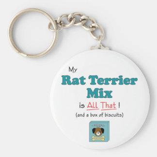 ¡Mi mezcla de Terrier de rata es toda la eso! Llavero Redondo Tipo Pin