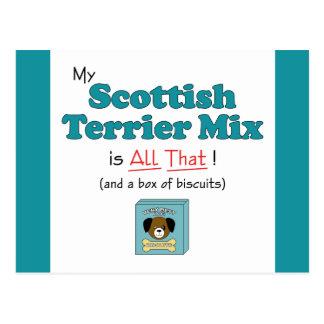 ¡Mi mezcla de Terrier del escocés es toda la eso! Postal