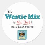 ¡Mi mezcla de Westie es toda la eso! Etiquetas