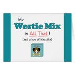 ¡Mi mezcla de Westie es toda la eso! Felicitación