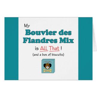 ¡Mi mezcla del DES Flandres de Bouvier es toda la  Tarjeta De Felicitación