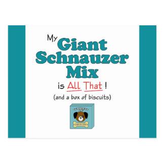 ¡Mi mezcla del Schnauzer gigante es toda la eso Postal