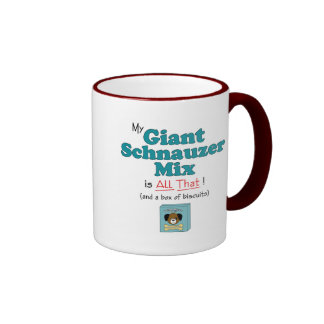 ¡Mi mezcla del Schnauzer gigante es toda la eso Taza