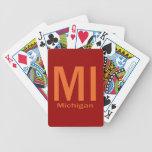 MI Michigan plain orange Card Deck