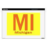 MI Michigan plain orange Laptop Skins