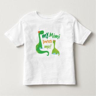 Mi Mimi me ama dinosaurio Playera De Bebé