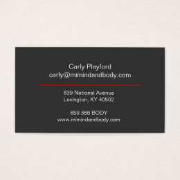 Mi mind and body business card