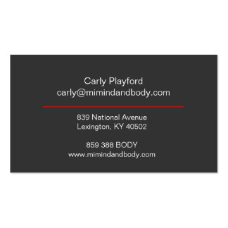 Mi mind and body business cards