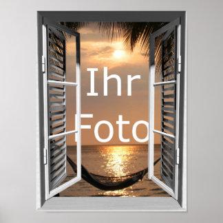 Mi mirada de ventana Hochformat Poster