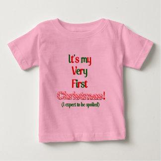 Mi mismo navidad del puño camisetas