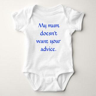 Mi momia no quiere su consejo body para bebé