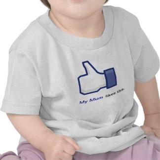 Mi momia tiene gusto de esto camiseta