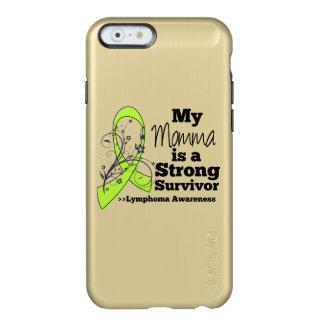 Mi Momma es un superviviente fuerte del linfoma Funda Para iPhone 6 Plus Incipio Feather Shine
