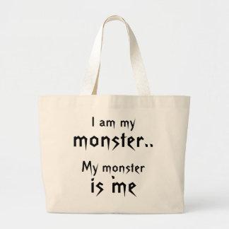 Mi monstruo es yo bolso bolsa tela grande