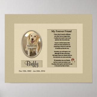 Mi monumento del perro del amigo del Forever Impresiones