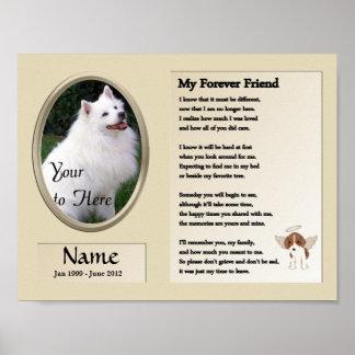 Mi monumento del perro del amigo del Forever - Póster