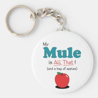 ¡Mi mula es toda la eso! Mula divertida Llavero Redondo Tipo Pin