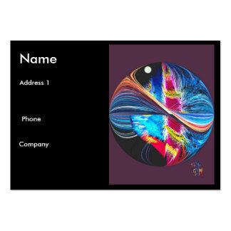Mi mundo en tarjeta de visita del color