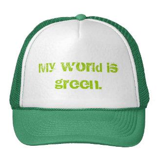 Mi mundo es verde gorro