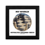 Mi mundo gira alrededor del ajedrez (el globo del  joyero cuadrado pequeño