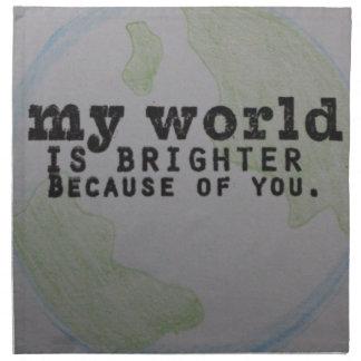 Mi mundo servilletas de papel