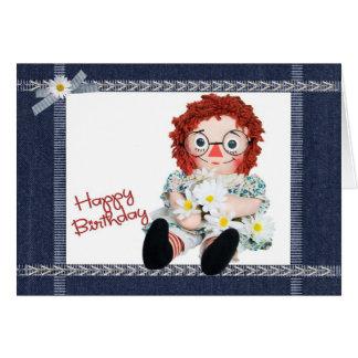 Mi muñeca preferida tarjeta de felicitación