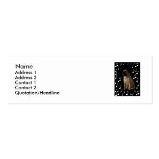 Mi música es perfil Card_by Elenne del protected_ Tarjetas De Visita Mini