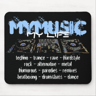 Mi música mi vida mouse pad